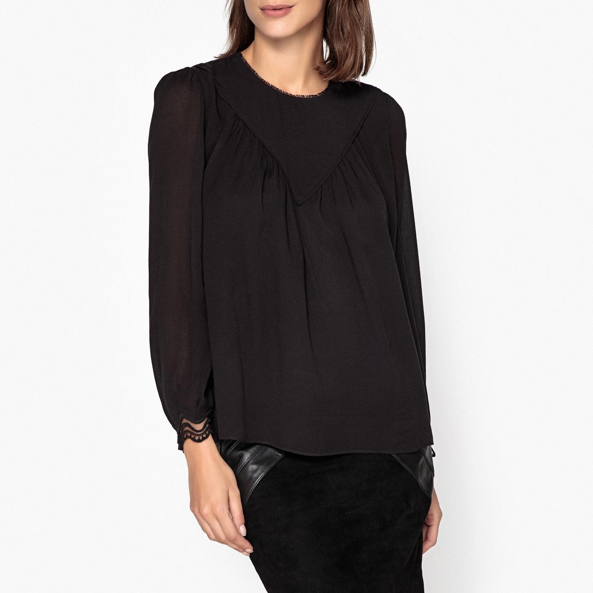 Блузка струящаяся с длинными рукавами NEPTUNE