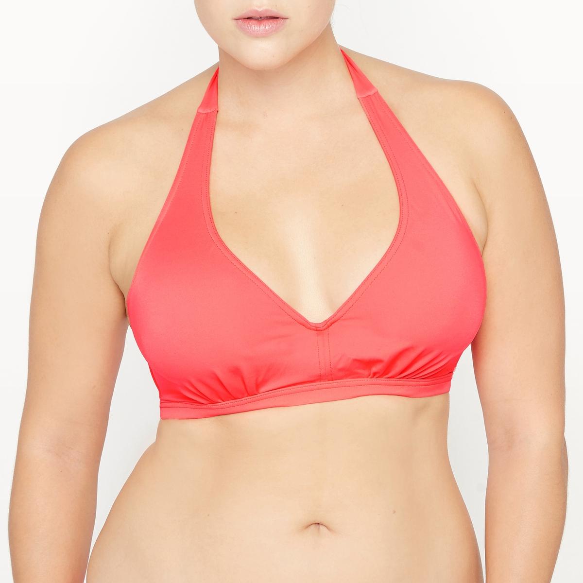 цена Бюстгальтер-фуляр La Redoute От купальника 90 E (FR) - 75 E (RUS) оранжевый онлайн в 2017 году