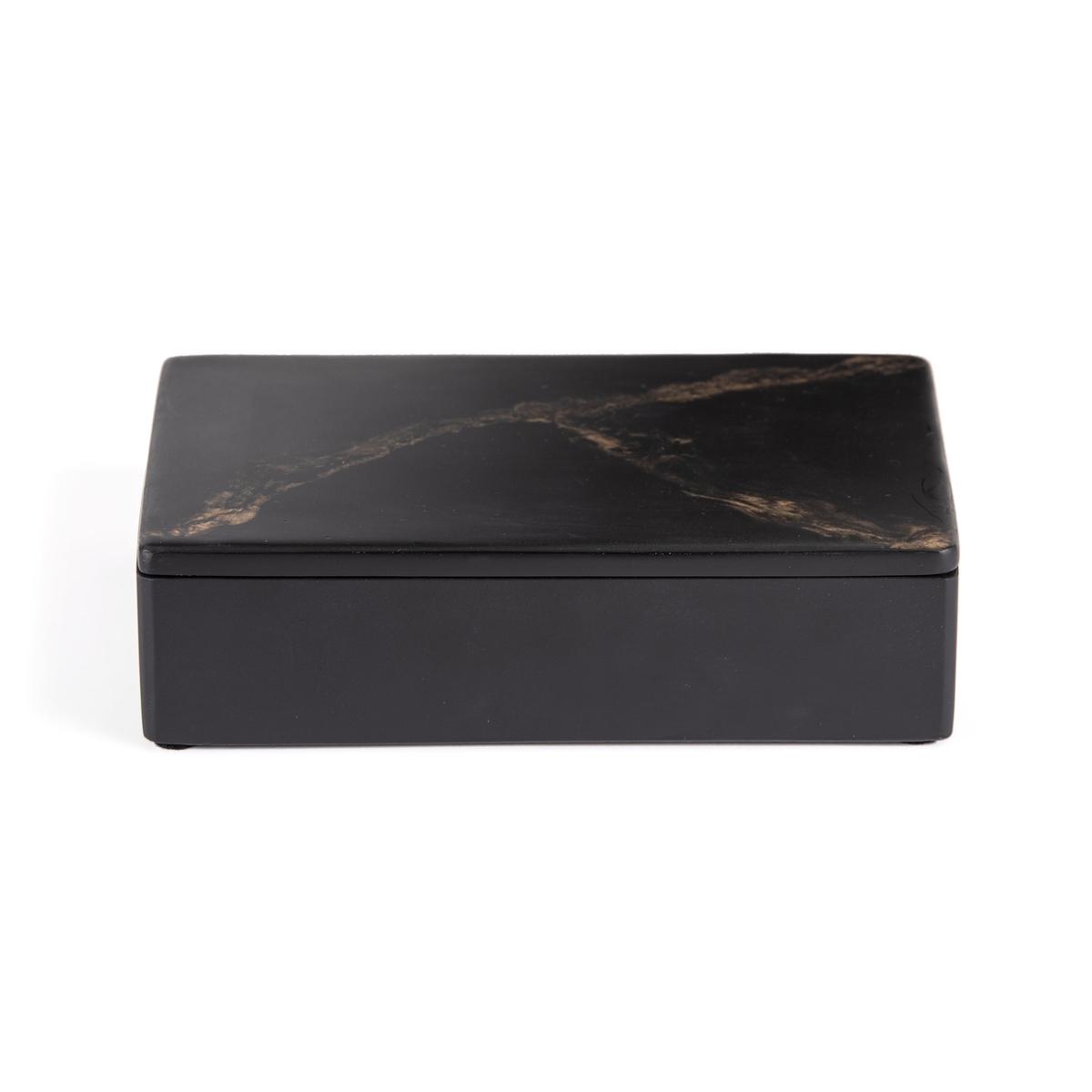 Коробка La Redoute Из пластика с эффектом мрамора большая модель Ogama единый размер черный зеркало la redoute с мозаичным эффектом большая модель kagami единый размер другие