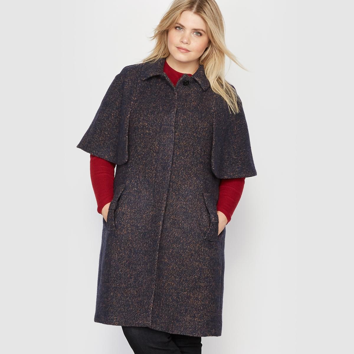 Пальто-накидка, 30% шерсти