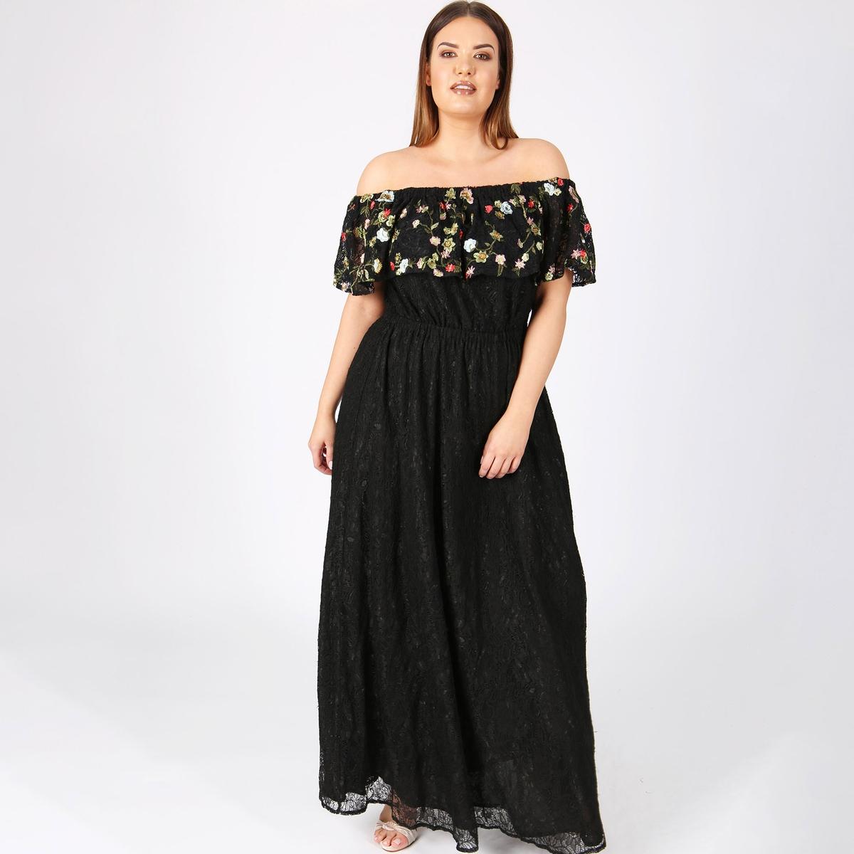 Платье длинное однотонное, расширяющееся к низу, без рукавов