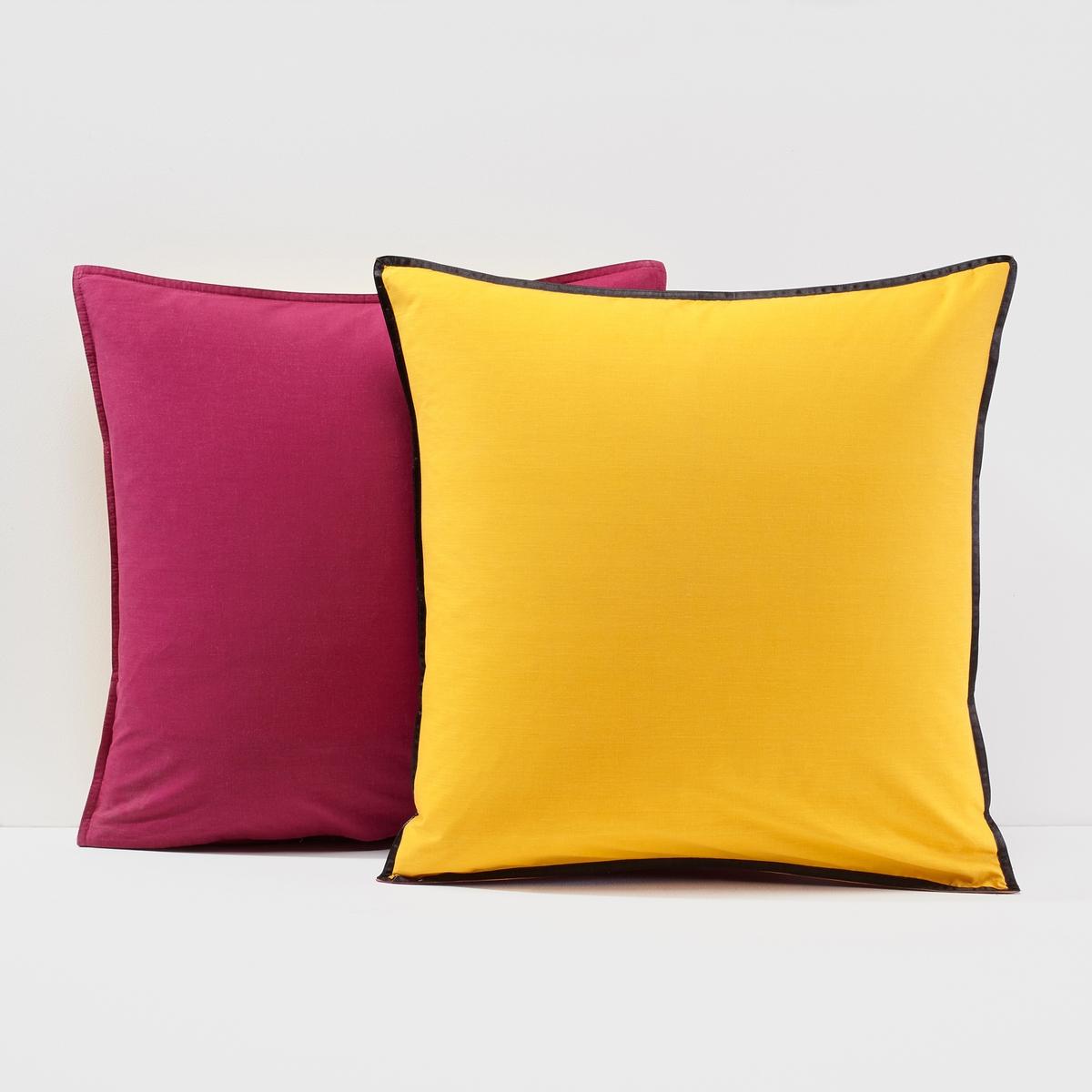 Наволочка на подушку или подушку-валик, Ge?shaНаволочка на подушку или подушку-валик, Ge?sha . Теплые цвета, окаймление косой бейкой из черного атласа, и отделка фигурными пуговицами. Характеристики наволочки Ge?sha: Наволочка квадратной и прямоугольной формы: двухцветное. Наволочка для подушки-валика: однотонная.100% хлопок плотного переплетения (57 нитей/см?): чем больше количество нитей /см? ,тем выше качество.Стирать при 60°.Знак качества Oeko-Tex® гарантирует, что продукция прошла проверку и не содержит в своем составе вредных веществ, представляющих опасность для здоровья человека.Найдите комплект постельного белья по ключевому слову Ge?sha на сайте laredoute.ruРазмер на выбор: 50 x 70 см : прямоугольная наволочка63 x 63 см: квадратная наволочка85 x 185 см: наволочка на подушку-валик.<br><br>Цвет: шафран/пурпурный