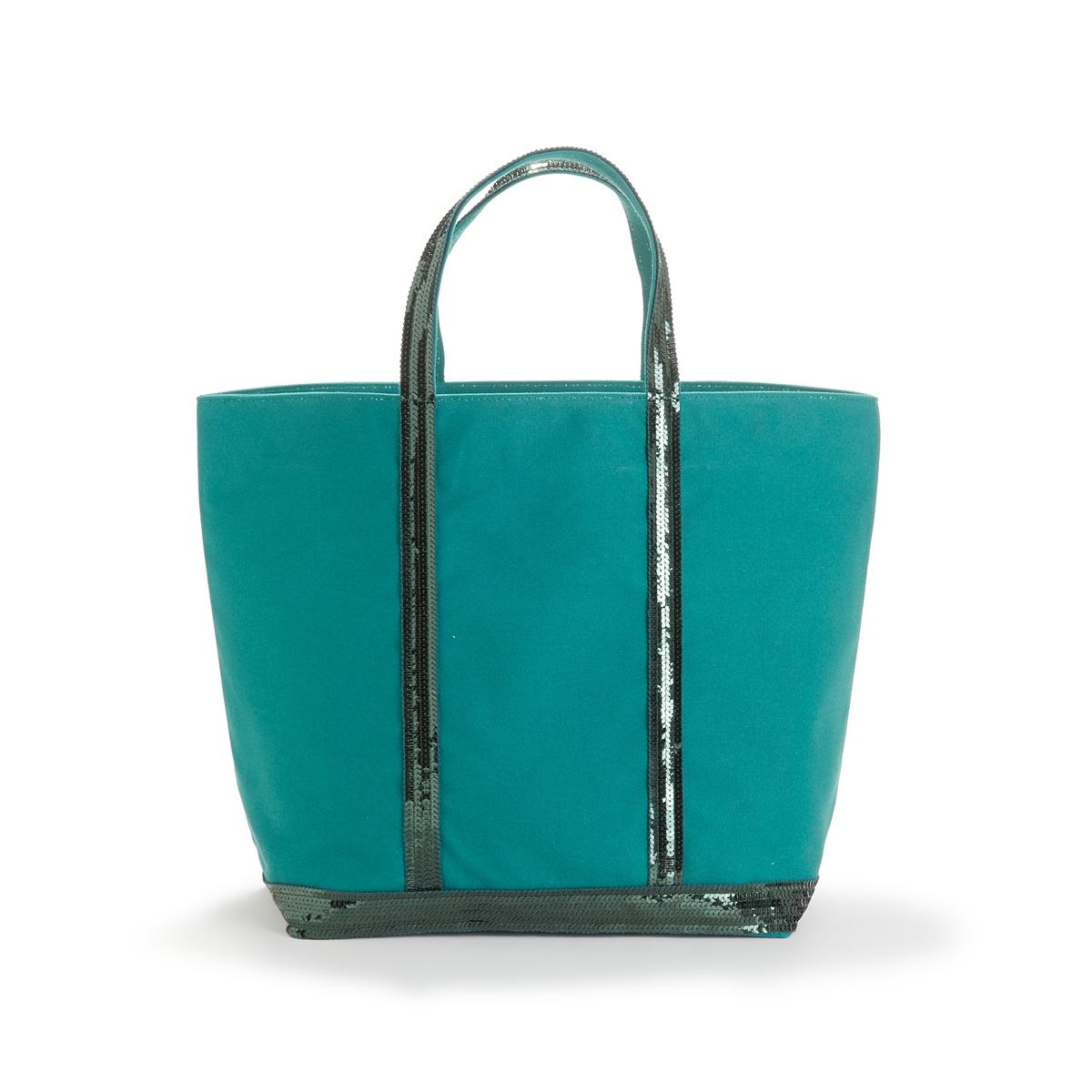 Сумка-шоппер La Redoute Среднего размера из ткани с блестками единый размер зеленый