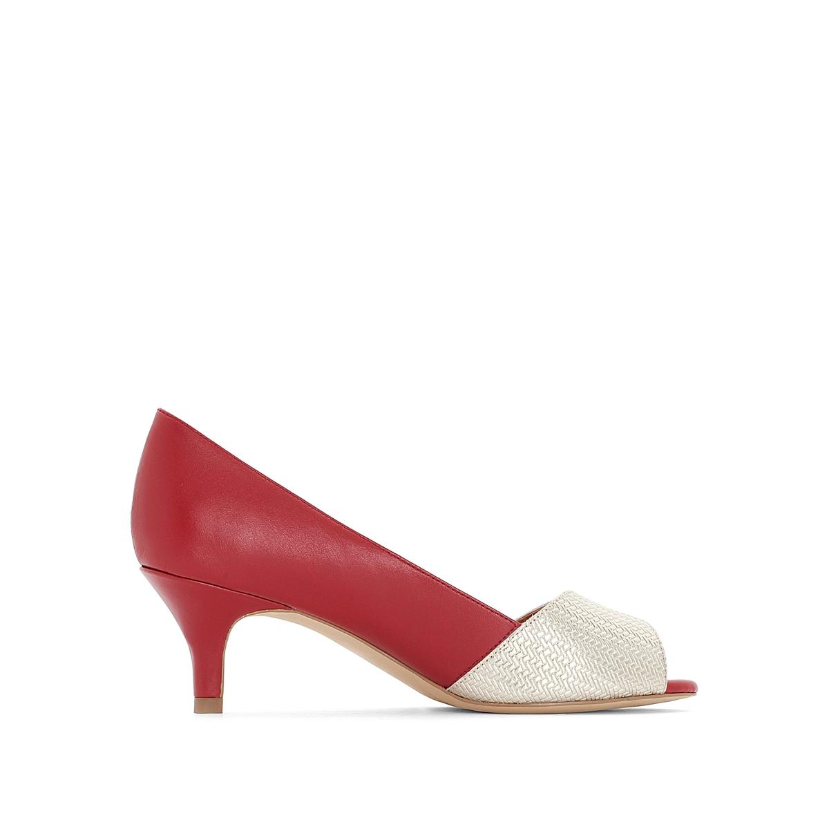 Zapatos de tacón, de piel bicolor