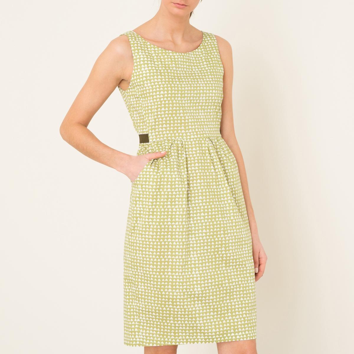 Платье с рисункомСостав и описание    Материал : 97% хлопка, 3% эластана   Марка : NIU<br><br>Цвет: горчичный