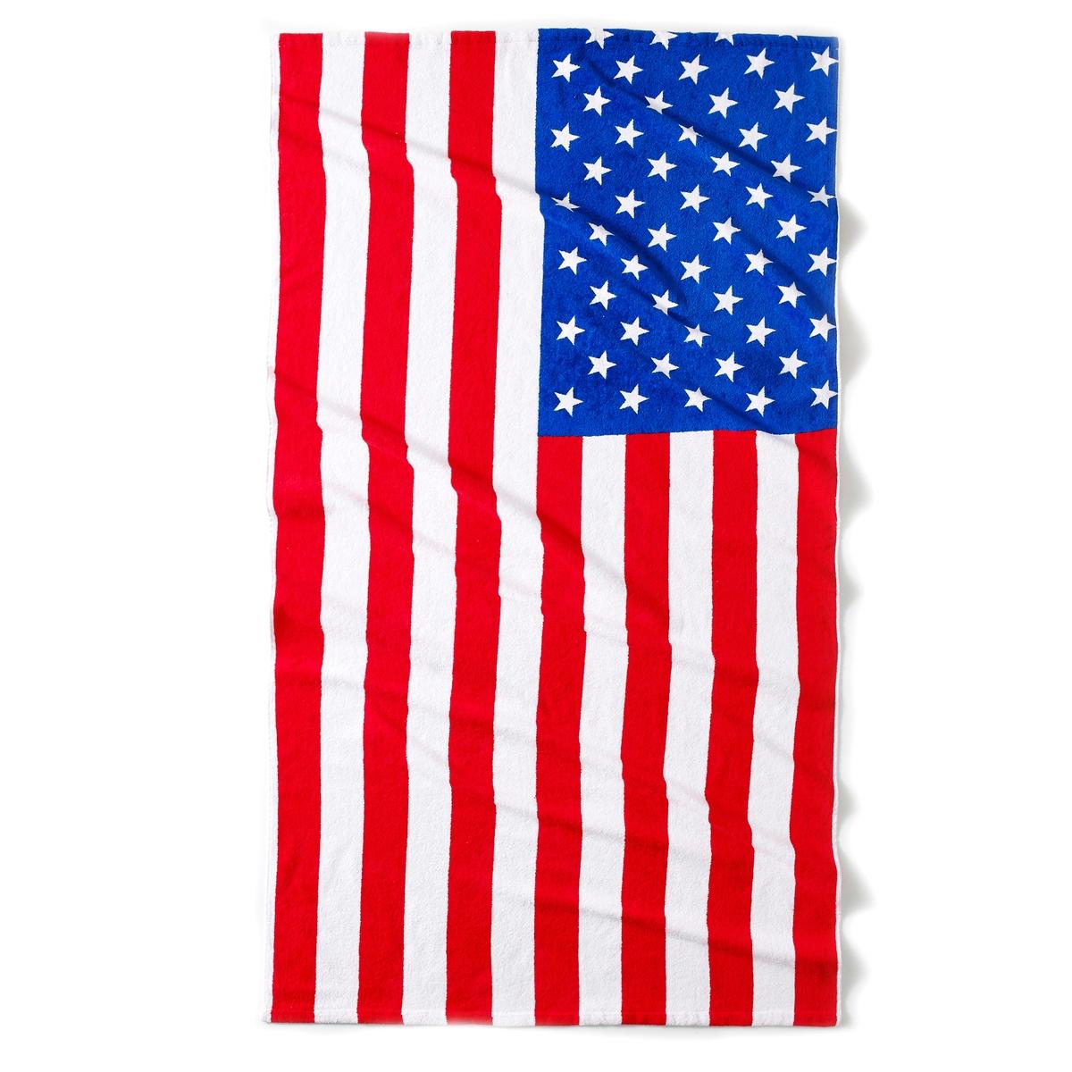 Полотенце пляжное Flag USAОписание пляжного полотенца USA :Принт флага US Характеристики пляжного полотенца USA :Махровая ткань 100% хлопка .400 г/м? . Стирка при 40°.Найдите всю коллекцию махровых изделий на сайте laredoute.ru.Размер пляжного полотенца USA :90 x 170 см<br><br>Цвет: синий/ белый/ красный<br>Размер: единый размер
