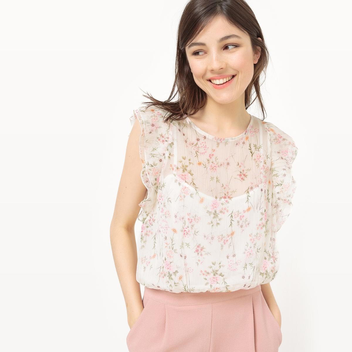 Комбинезон с шортами, верх с цветочным рисунком