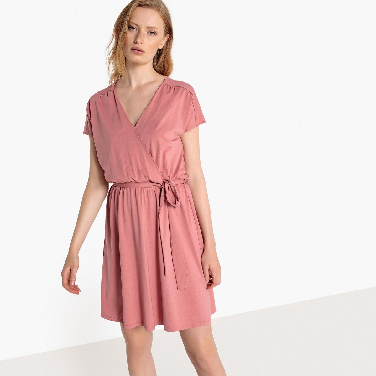 Sukienka kopertowa z dżerseju