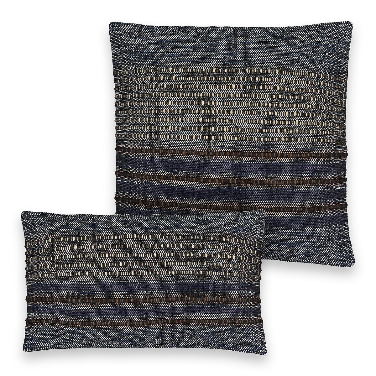 Чехол LaRedoute На подушку из 64 хлопка 21 акрила 12 полиэстера 3 вискозы Medina 50 x 50 см черный