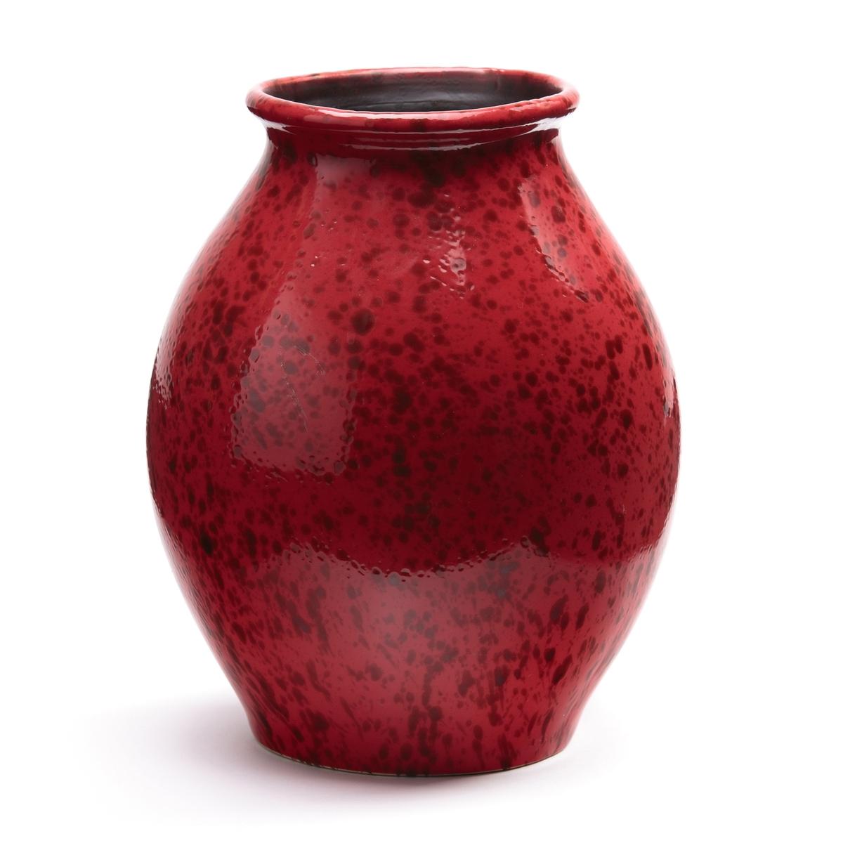 Ваза из керамики, TribadeВаза Tribade. Ваза из керамики красивого красного цвета с отделкой эмалью . Размеры : ?23 x H28,5 см .<br><br>Цвет: красный