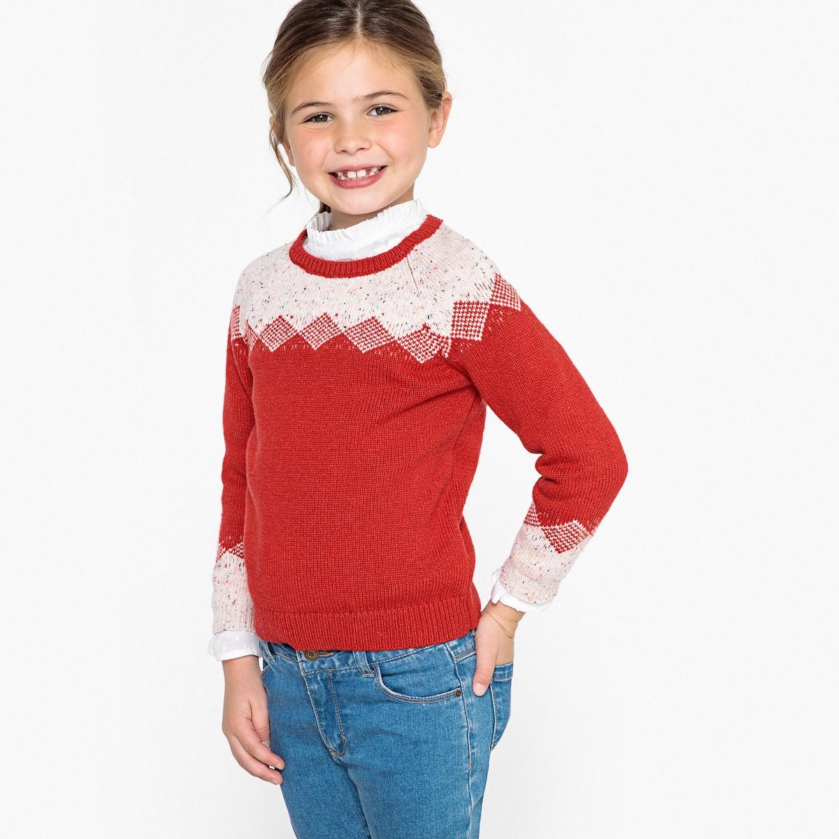 Пуловер жаккардовый, 3 - 12 лет