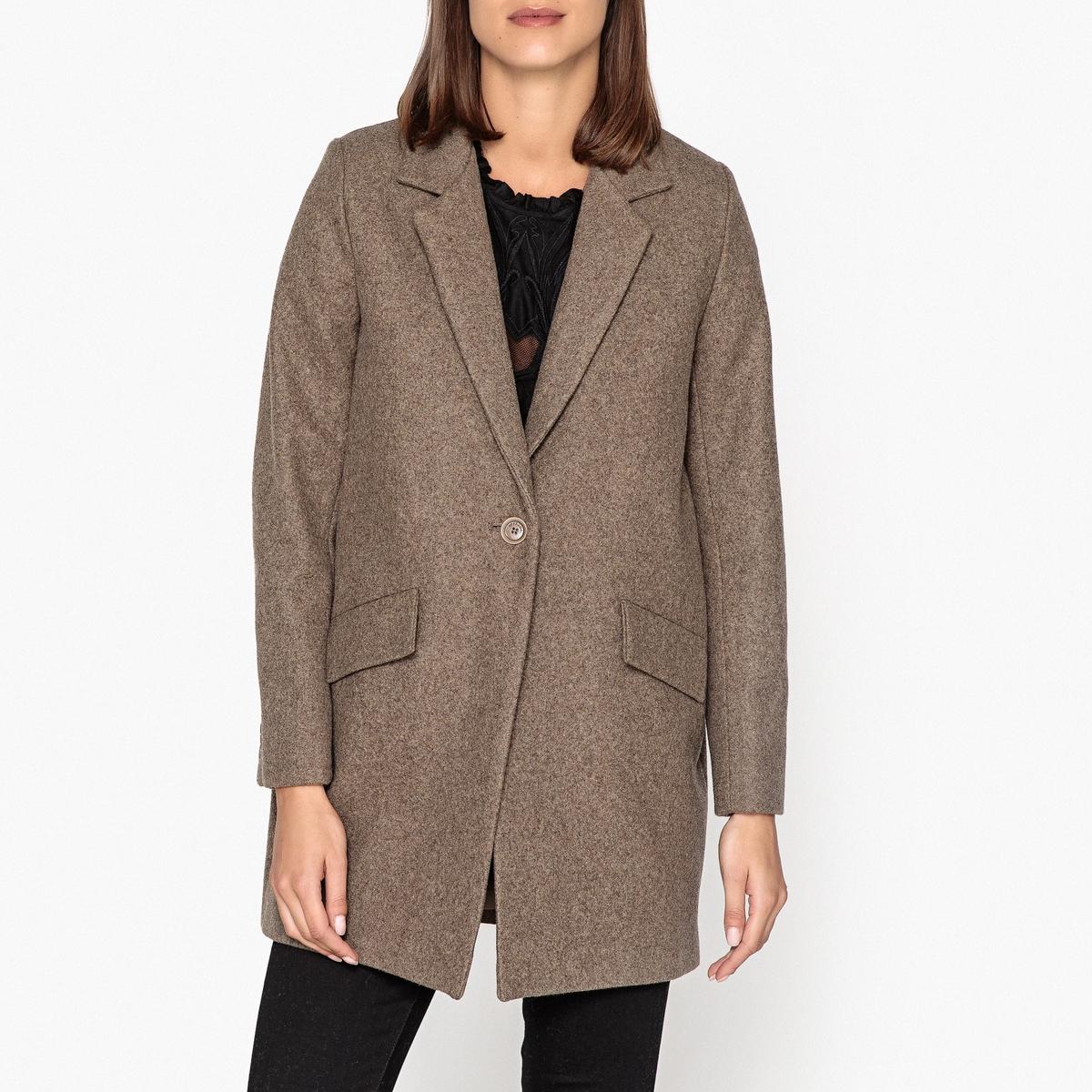 Пальто средней длины из смешанной шерсти HELLO DOL