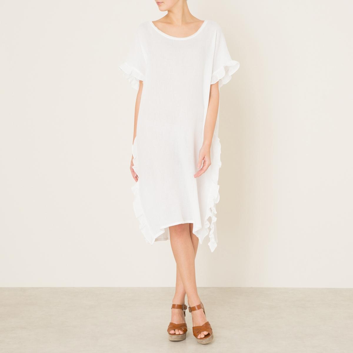 Платье  MADRAGUEСостав и описание    Материал : 100% хлопок   Длина : ок. 97 см. для размера 36   Марка : TOUPY<br><br>Цвет: белый