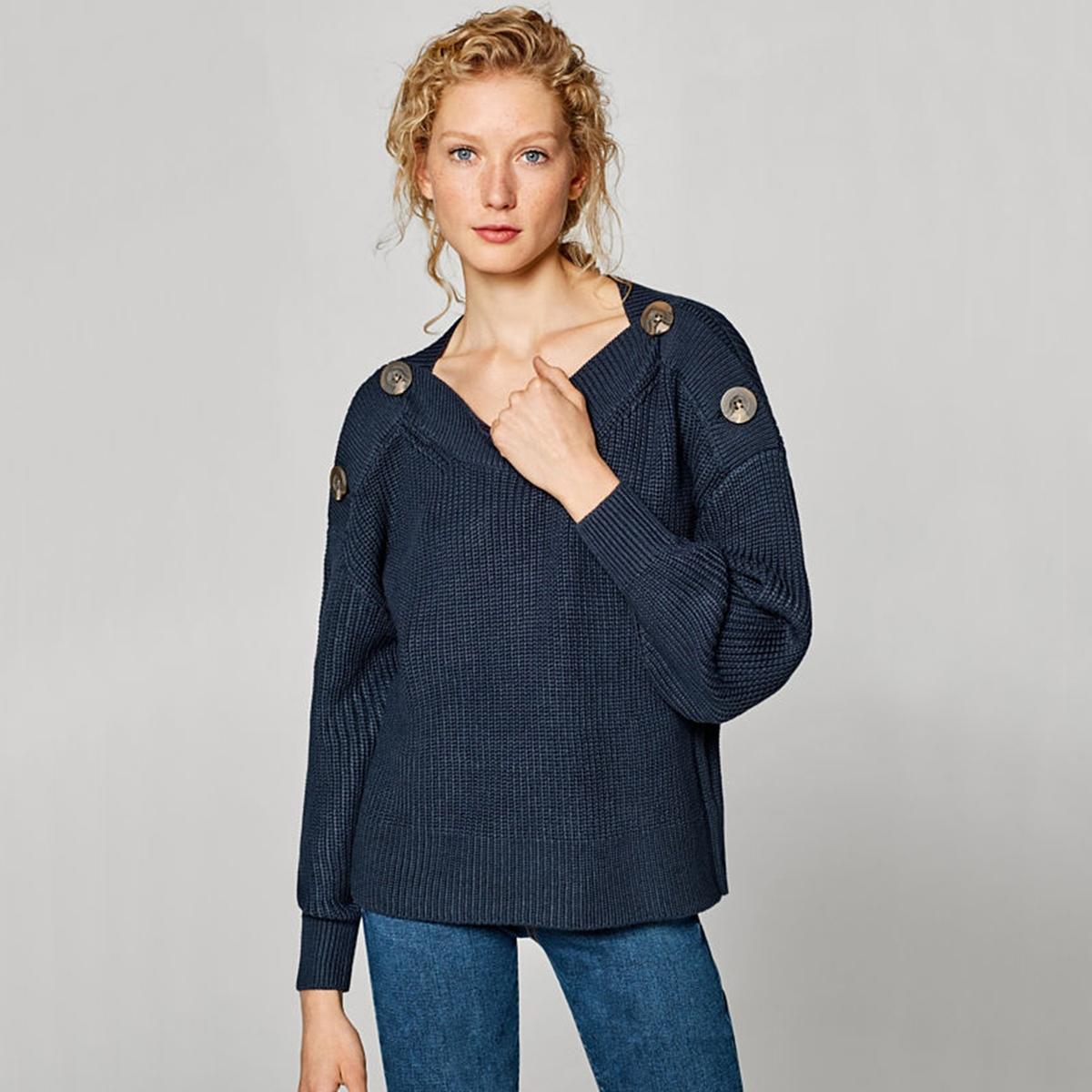Jersey con cuello barco de punto fino