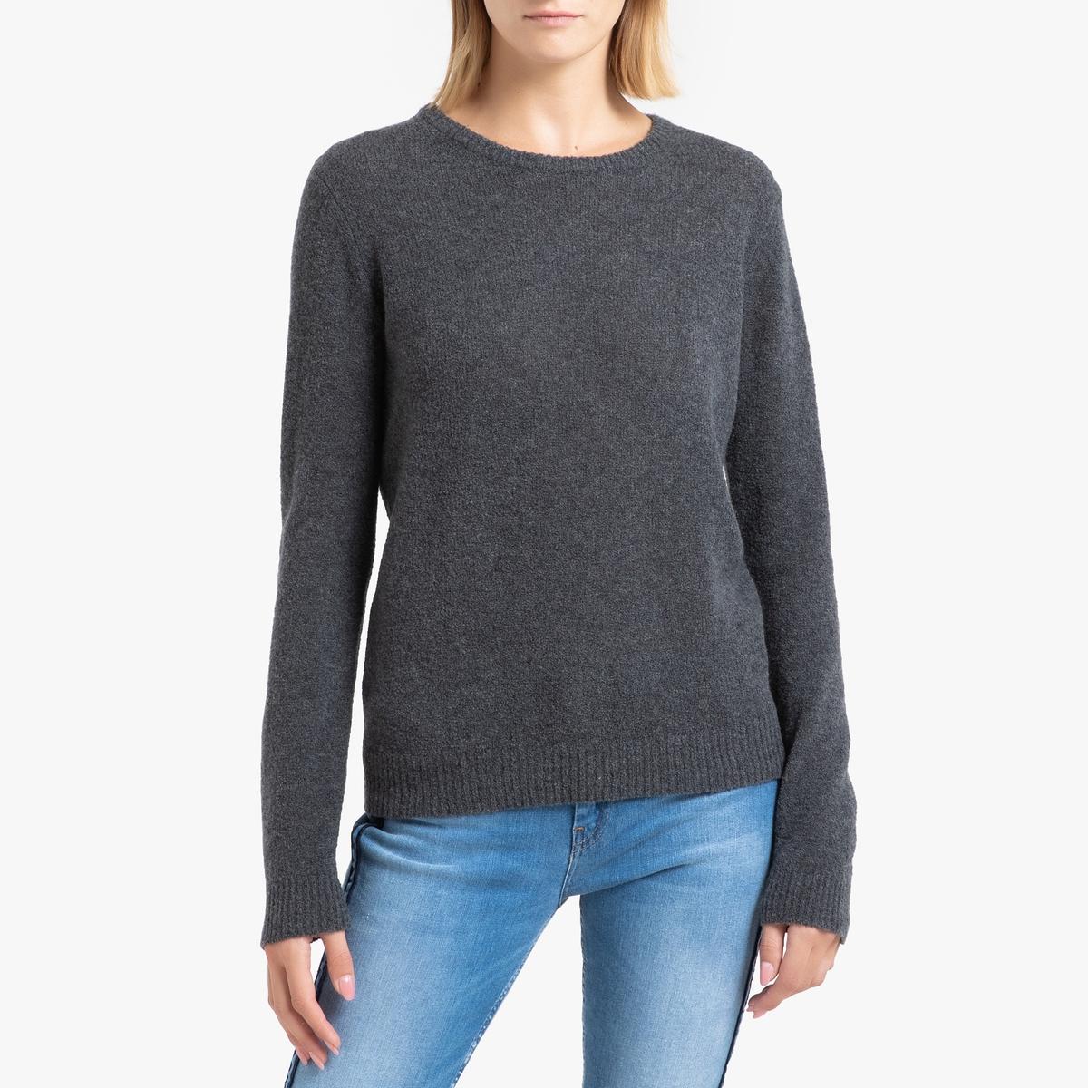 Пуловер La Redoute С круглым вырезом из тонкого трикотажа NANIBEACH M серый пуловер la redoute с круглым вырезом из плотного трикотажа 3xl синий