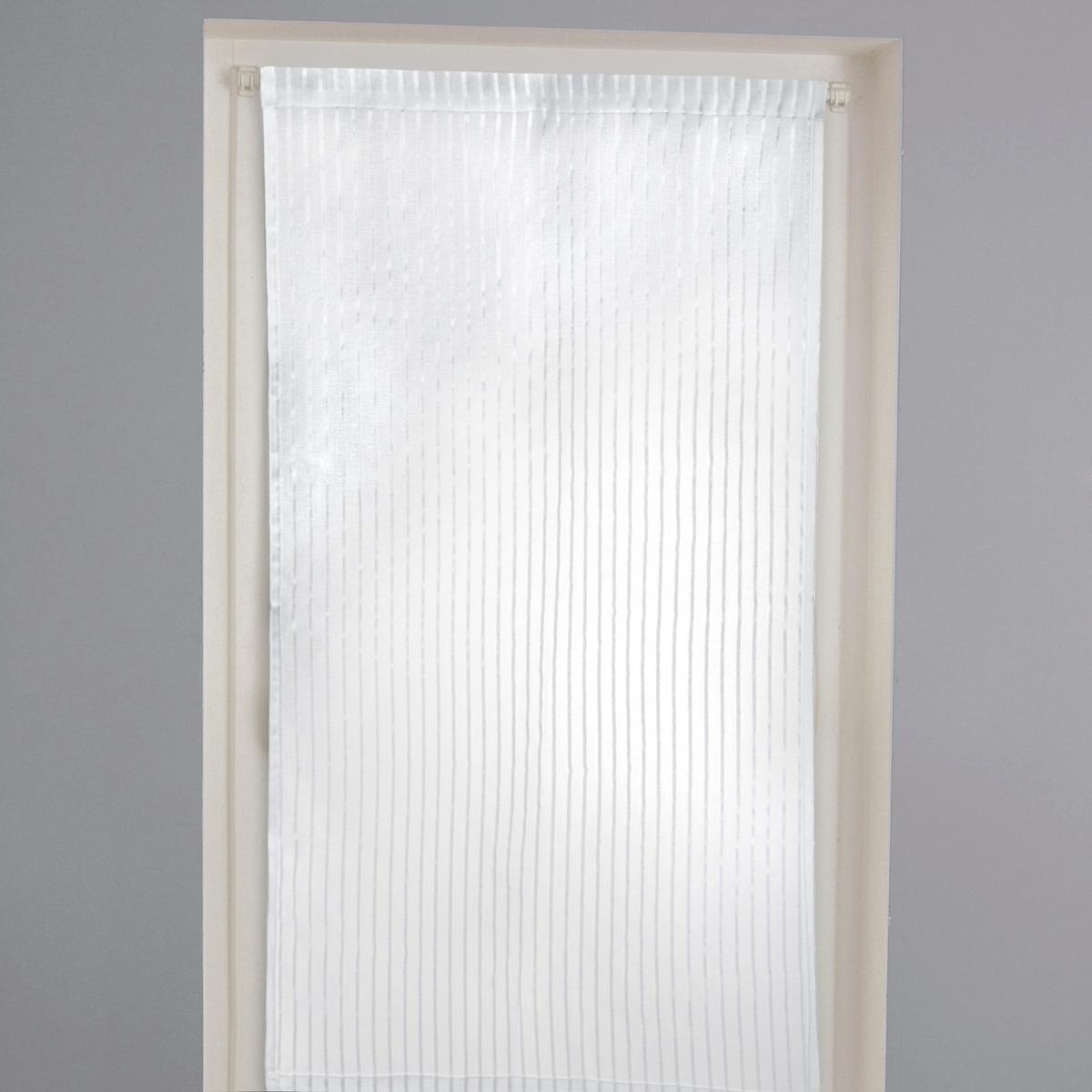 Занавеска с фактурными полосками, на кулиске, GERBERAХарактеристики шторы  :Материал :  100% полиэстер Подшитый низКулиска для карниза Уход : машинная стирка при 30 °.Размеры занавески:90 x 45 см. 90 x 60 см120 x 45 см120 x 60 см<br><br>Цвет: белый