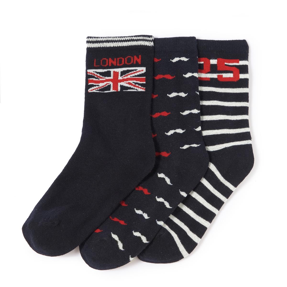 3 пары носков с тематикой Лондон от La Redoute