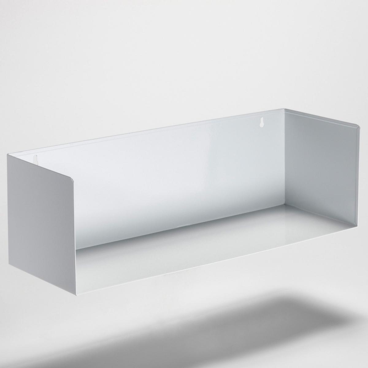 Полка настенная прямоугольная  (комплект из  2) ToranaПолка прямоугольная, комплект из  2 : невероятно практична-в спальне, прихожей, гостиной.... Гальванизированный металл- необработанный или с эпоксидным покрытием .Размеры. : 58 x 18 x 18 см . Выдерживает вес до  7 кг .<br><br>Цвет: белый,серый
