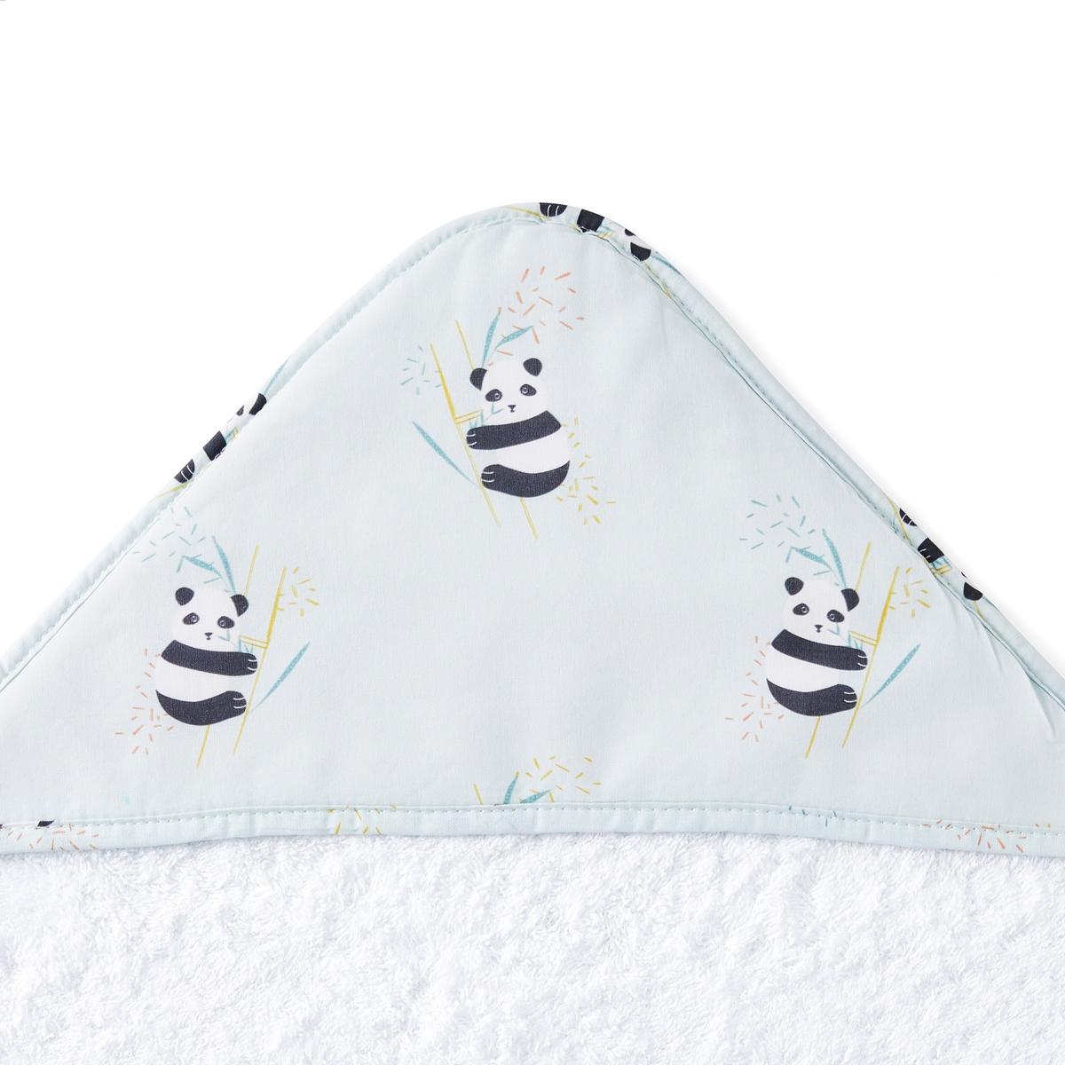 цена Детская La Redoute Накидка после ванны с капюшоном Victor 70 x 70 см синий онлайн в 2017 году