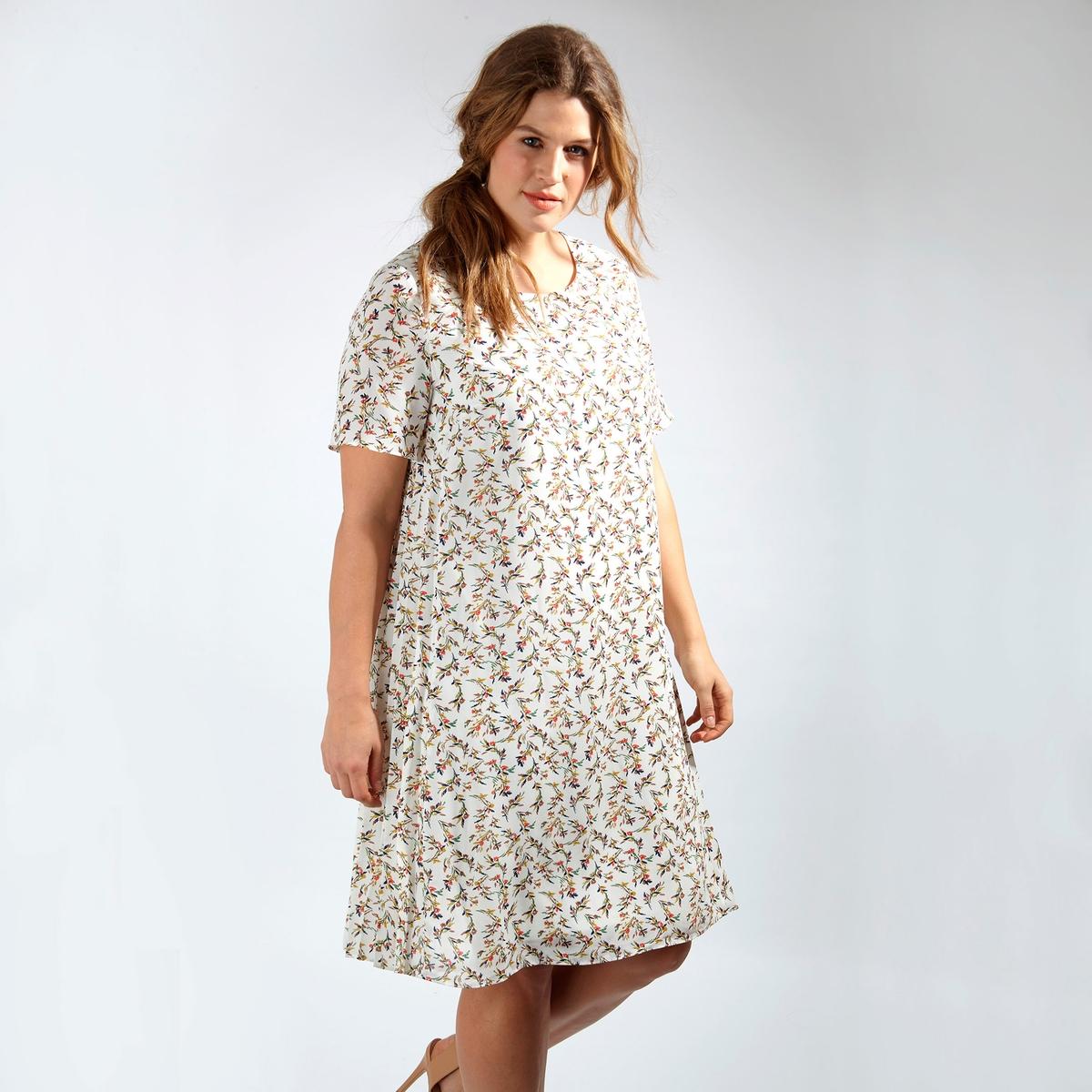 ПлатьеПлатье с короткими рукавами KOKO BY KOKO. Длина до колен. Круглый вырез. 100% полиэстер<br><br>Цвет: набивной рисунок<br>Размер: 50/52 (FR) - 56/58 (RUS).48 (FR) - 54 (RUS)