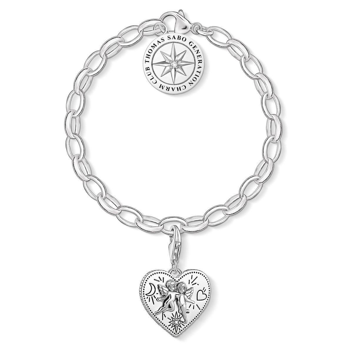 THOMAS SABO Bracelet Charm Argent sterling 925, noirci 17 SET0554-643-14-L19,5v