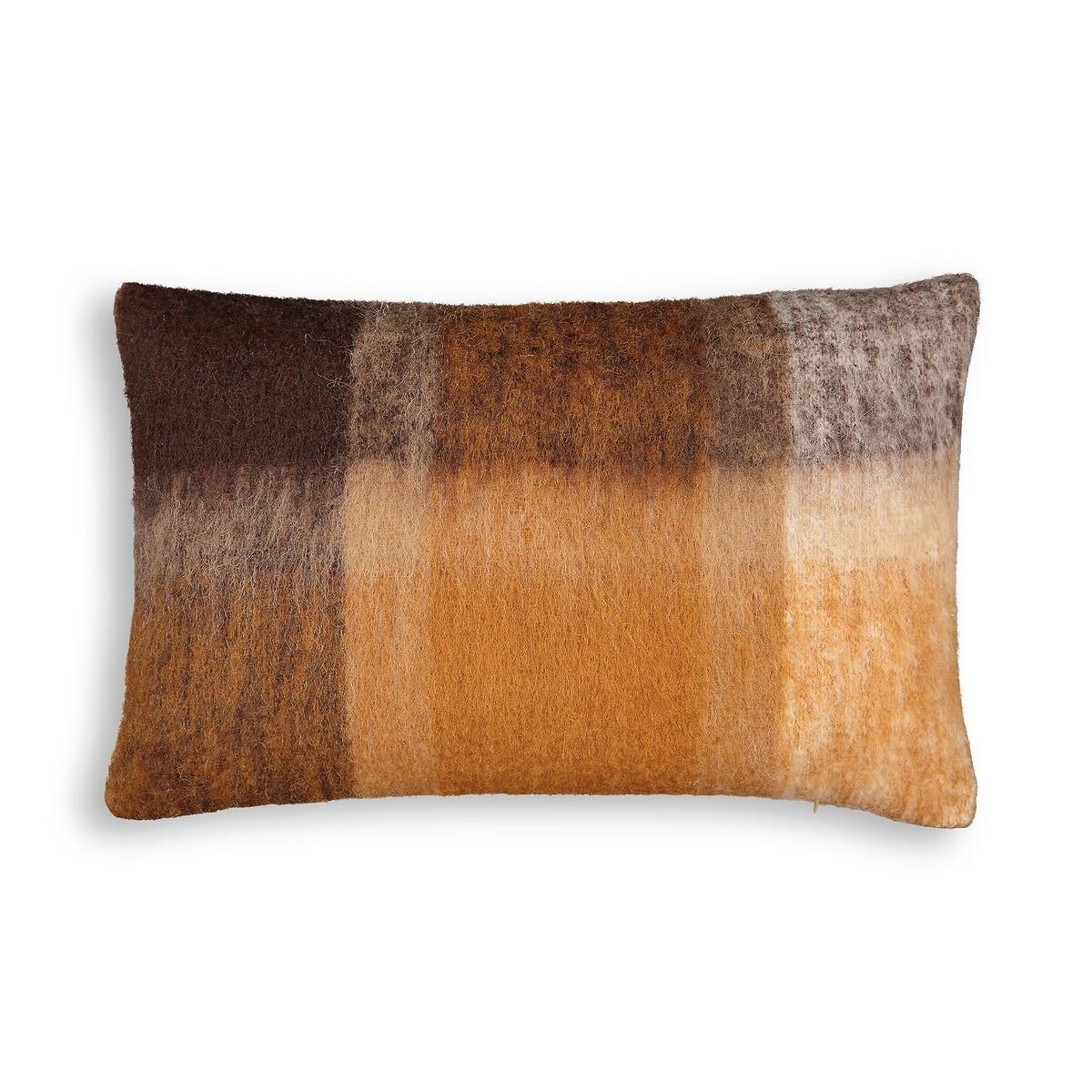 Чехол LaRedoute На подушку из шерсти Asama 60 x 40 см каштановый