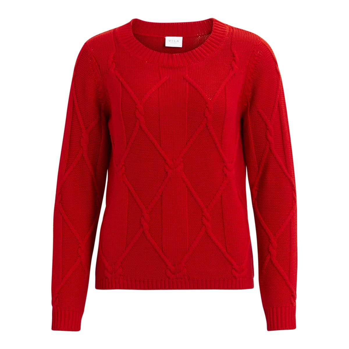 Пуловер с круглым вырезом из тонкого трикотажаДетали •  Длинные рукава •  Круглый вырез •  Тонкий трикотаж Состав и уход •  50% акрила, 50% хлопка •  Следуйте советам по уходу, указанным на этикетке<br><br>Цвет: красный<br>Размер: L