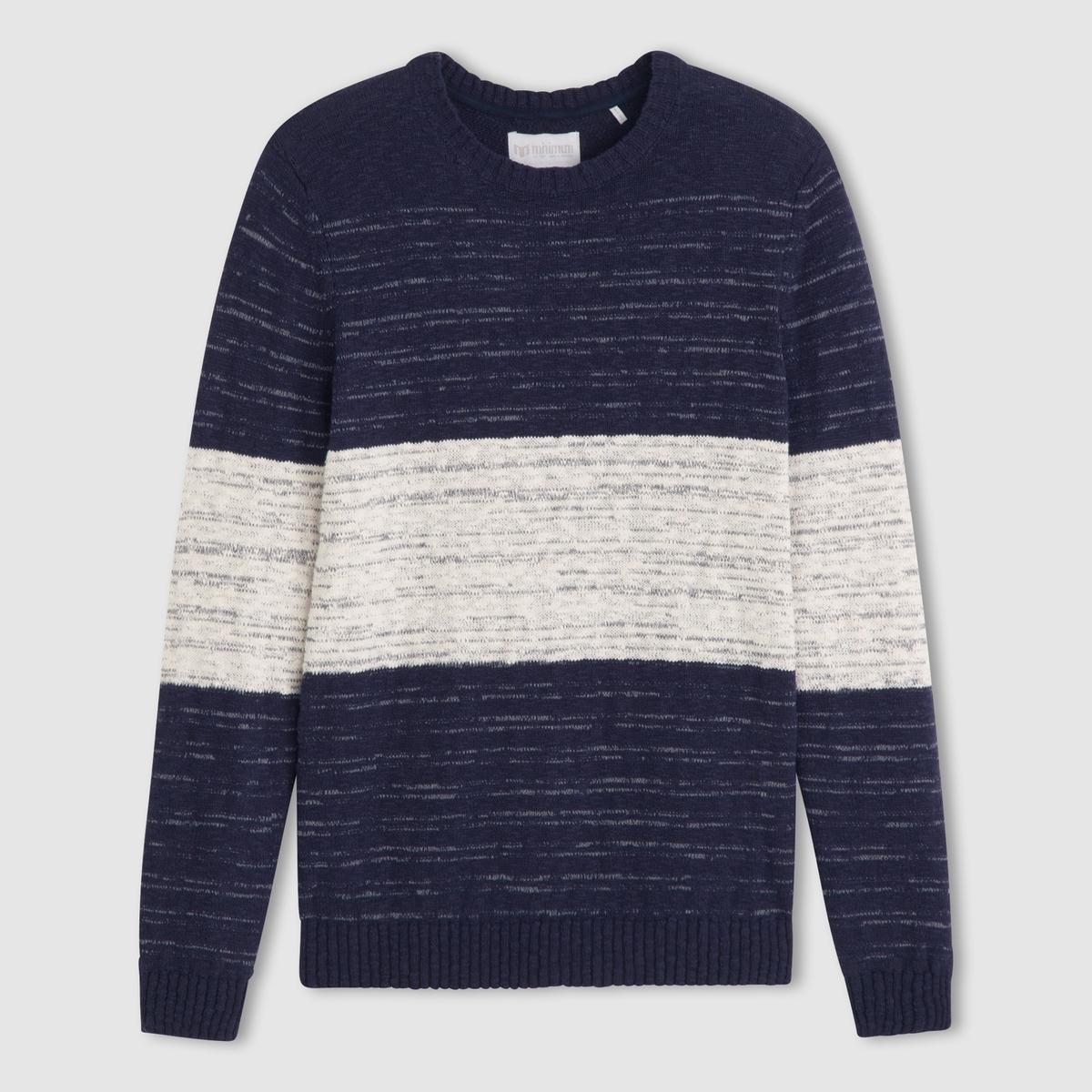 ПуловерПуловер MINIMUM100% хлопка. Круглый вырез. Длинные рукава. Края связаны в рубчик .<br><br>Цвет: синий