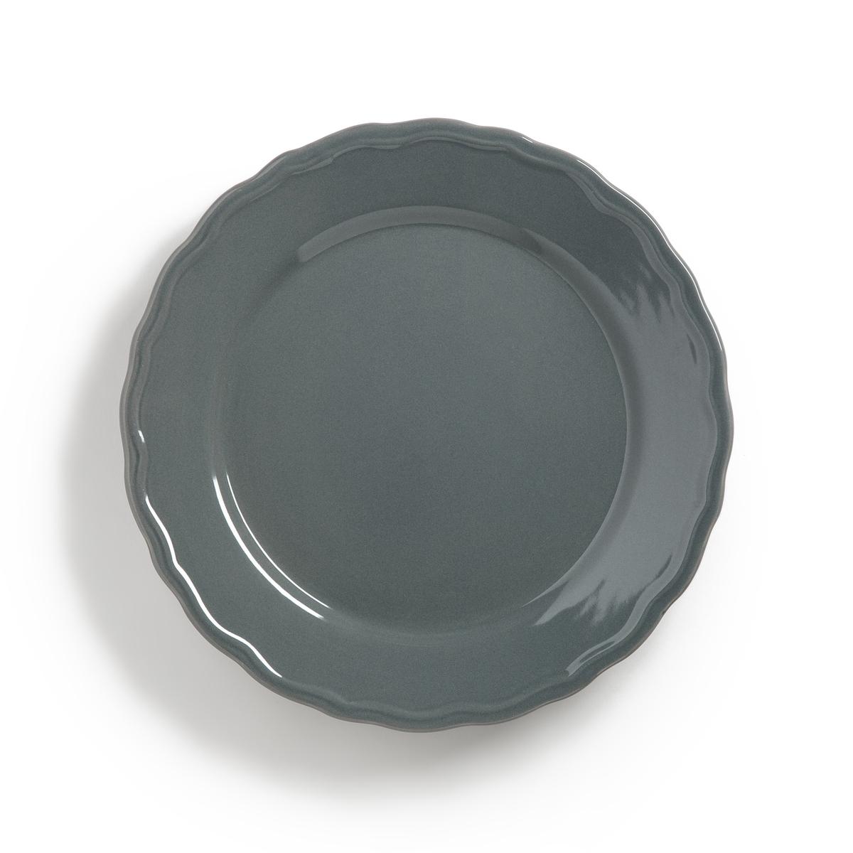 Комплект из 4 плоских тарелок с отделкой фестоном, AJILAОписание:4 тарелки плоские с отделкой фестоном Ajila. Завтрак, обед или ужин, La Redoute Int?rieurs Вас приглашает к столу.Характеристики 4 тарелок плоских с отделкой фестоном Ajila : •  Из фаянса, зубчатая кромка •  Диаметр 26,5 см •  Подходит для мытья в посудомоечной машине и использования в микроволновой печиДесертные и глубокие тарелки,чашки, кружки и блюдца Ajila продаются на нашем сайте laredoute.ru<br><br>Цвет: белый,темно-серый<br>Размер: единый размер