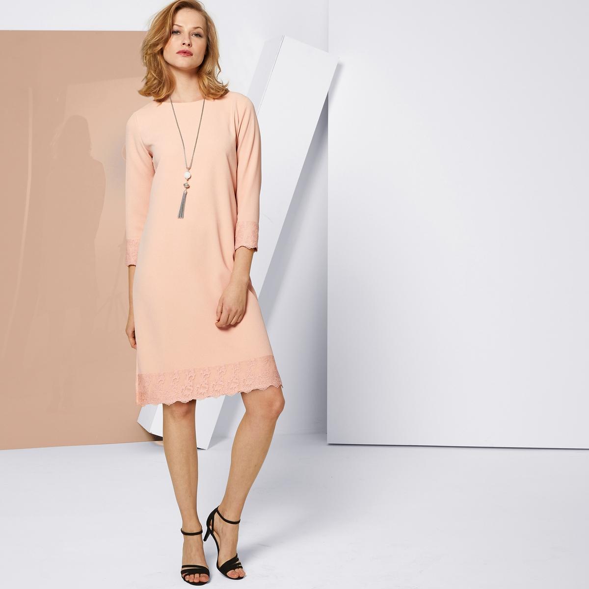 Imagen principal de producto de Vestido recto, semilargo, de encaje - Anne weyburn