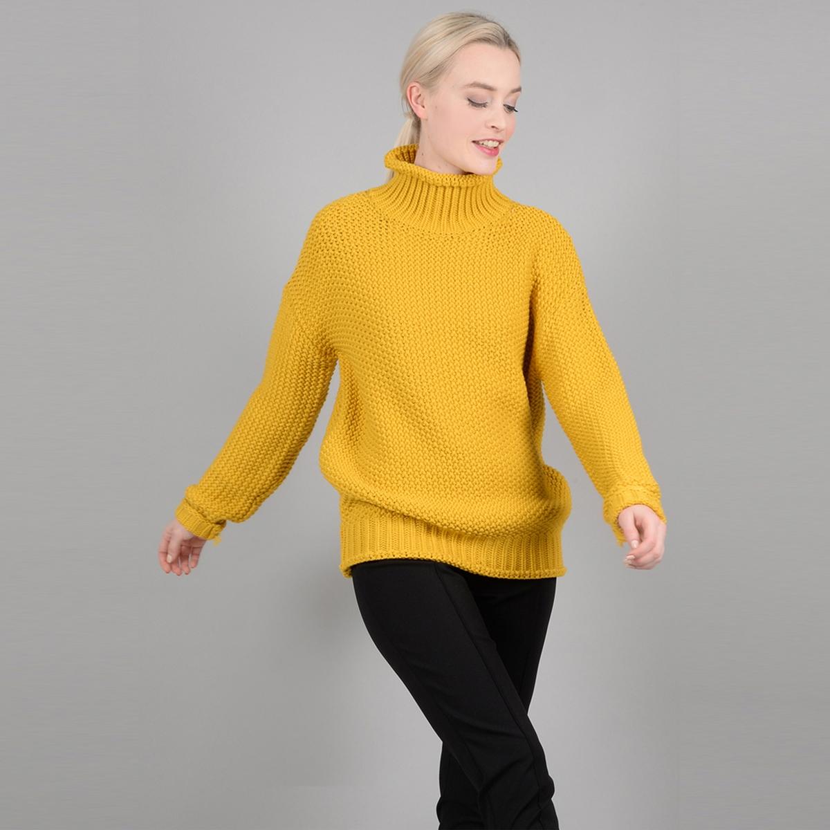 Пуловер-водолазка из плотного трикотажа