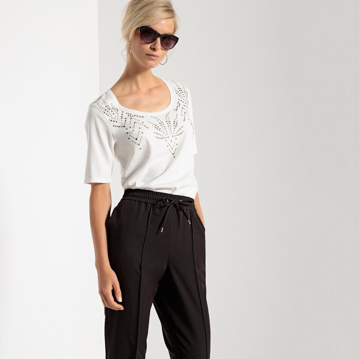 Imagen secundaria de producto de Camiseta con cuello redondo, tachuelas fantasía y manga corta - Anne weyburn
