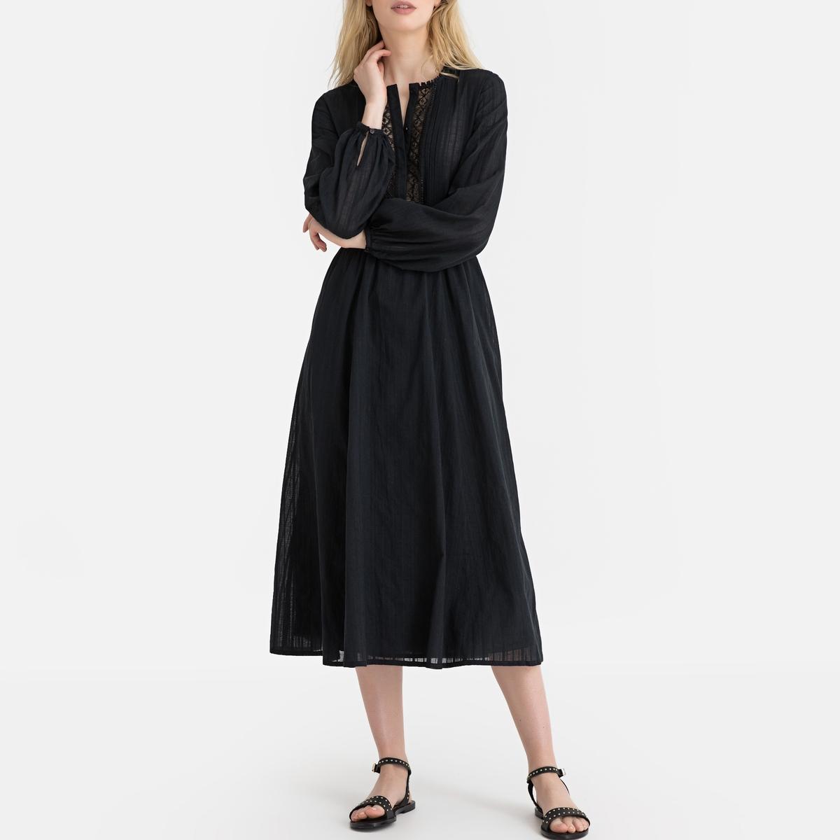 Платье La Redoute С длинными рукавами 36 (FR) - 42 (RUS) черный платье la redoute радужное estelle 36 fr 42 rus черный