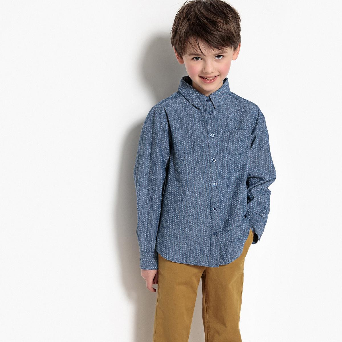 Рубашка с рисунком, 3-12 лет бермуды из мольтона с рисунком на 3 12 лет