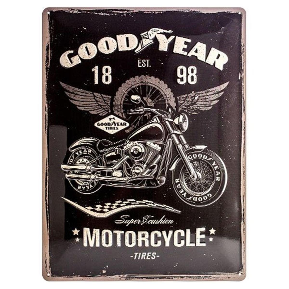 Plaque métallique Good Year Motorcycle