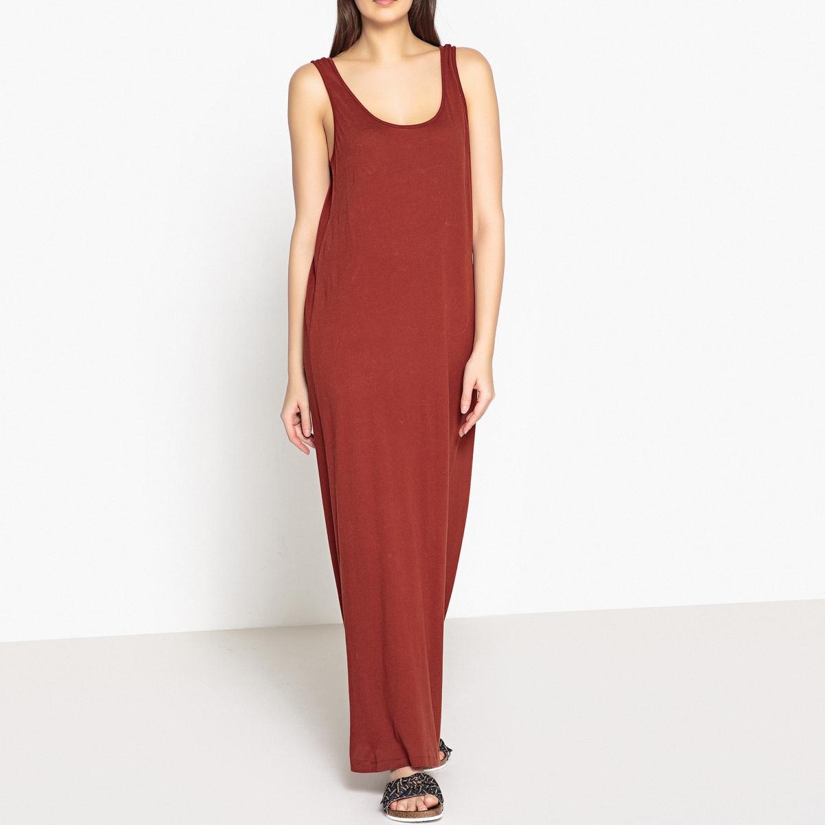 Платье без рукавов из тонкого трикотажа джерси JOC printio платье без рукавов
