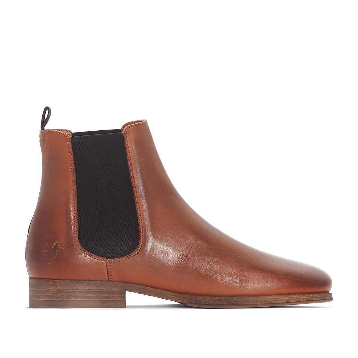 Ботинки-челси RAMEL1Детали  •  Высота каблука : 2 см.  •  Застежка : эластичная вставка •  Круглый мысок •  Гладкая отделкаСостав и уход  •  Верх 100% кожа •  Подкладка 50% кожи, 50% ткани •  Стелька 100% кожа<br><br>Цвет: коньячный