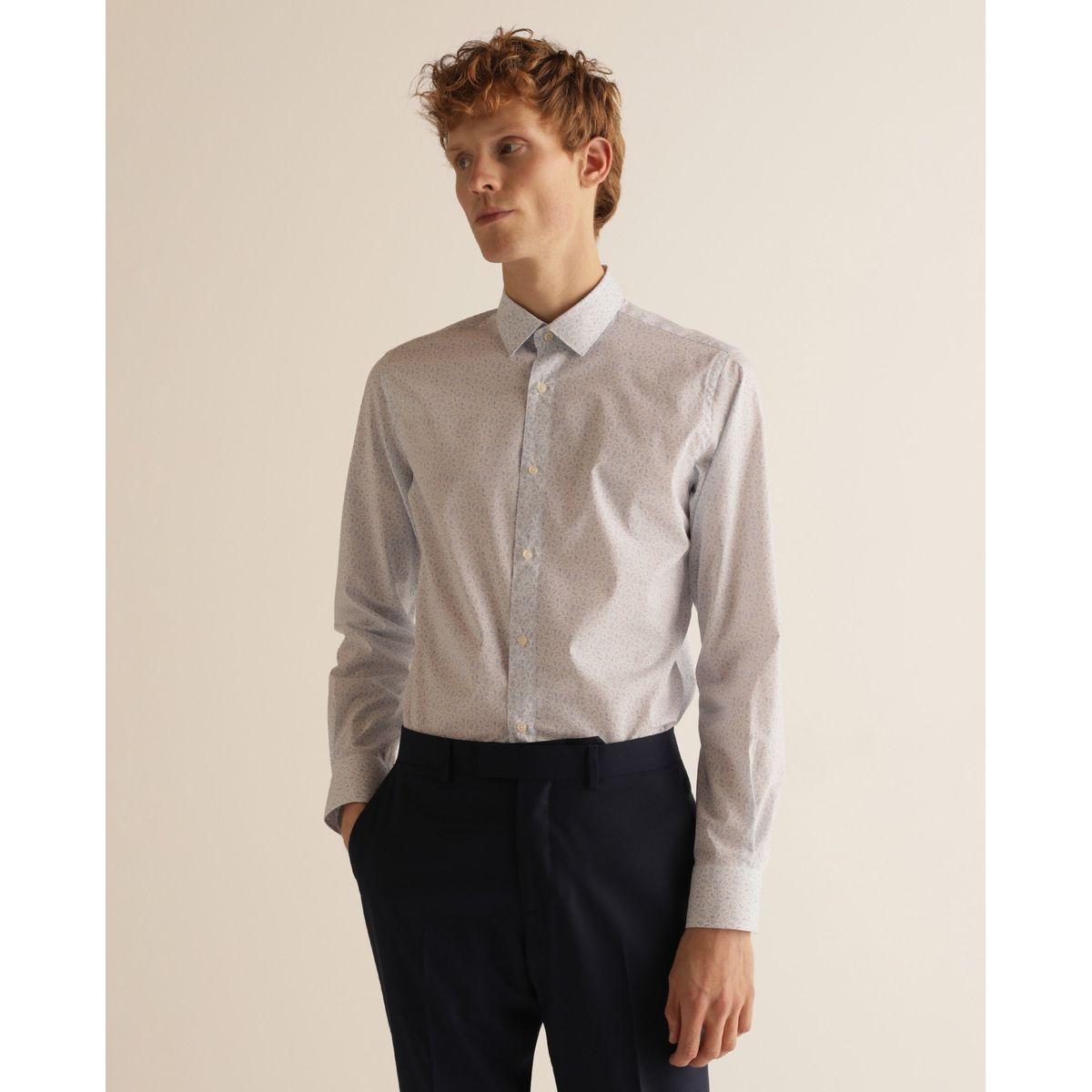Chemise slim habillée repassage facile