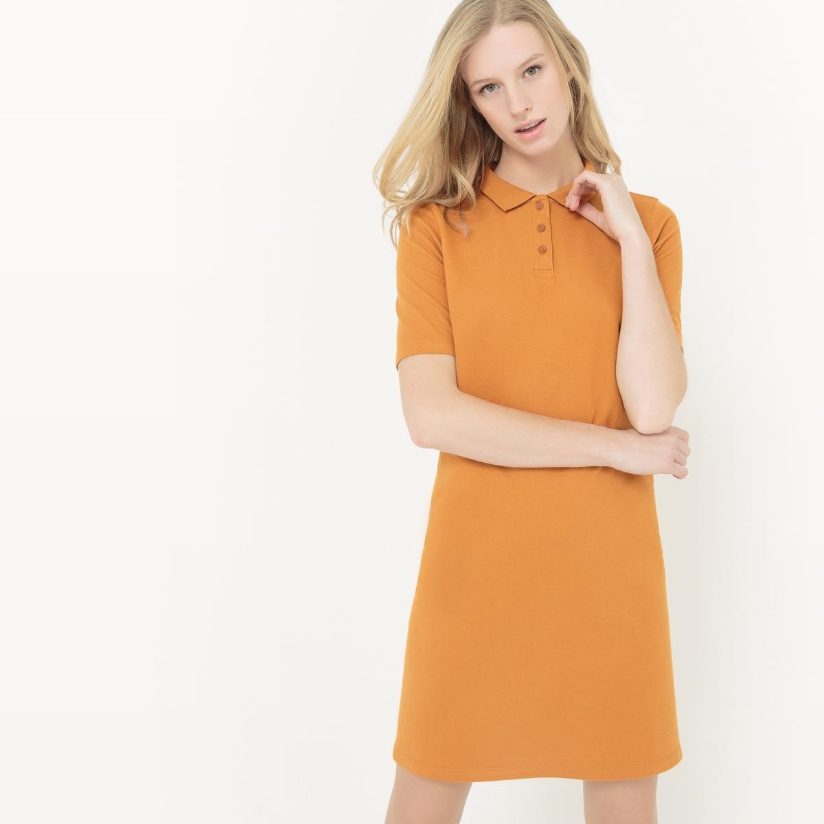 Платье-поло с короткими рукавами