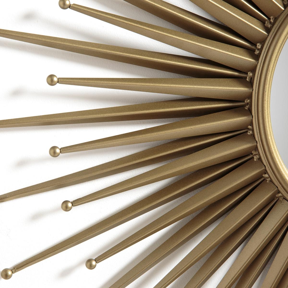 Зеркало-солнце ?78 см, NihadaЗеркало Nihada. Обновленная модель культового зеркала-солнца. Можно использовать одно или несколько зеркал, продающихся на нашем сайте. Характеристики :- Металлическая рамка с эффектом состаренной латуни- Крючок для крепления на стену (саморезы и дюбели не входят в комплект) . Размер : - ?78 см.- Зеркало: ?25 смРазмеры и вес упаковки: - Ш.87,5 x В.87,5 x Г.11,7 см.Доставка : Возможна доставка до квартиры по предварительному согласованию!Внимание ! Убедитесь в том, что товар возможно доставить на дом, учитывая его габариты (проходит в двери, по лестницам, в лифты).<br><br>Цвет: старинная латунь