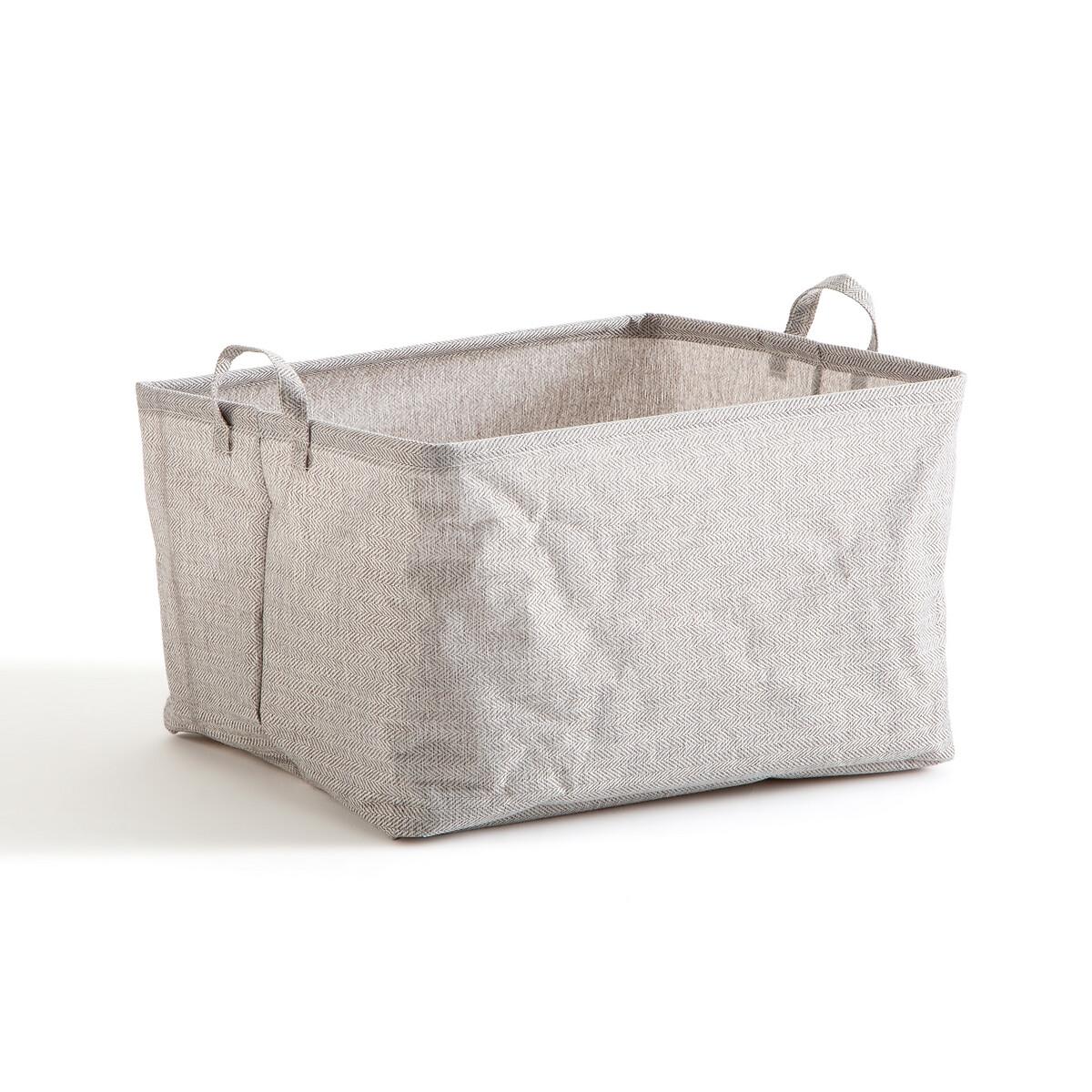 Фото - Корзина LaRedoute Monteo единый размер серый корзина laredoute для белья из ткани louison единый размер серый