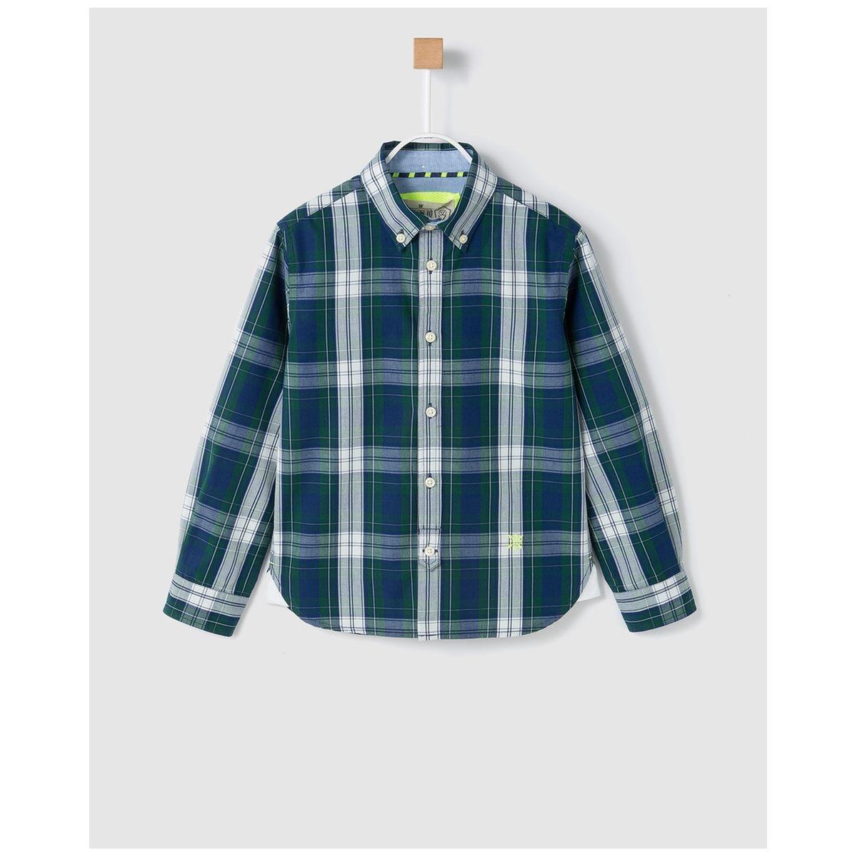Chemise à carreaux tricolore /