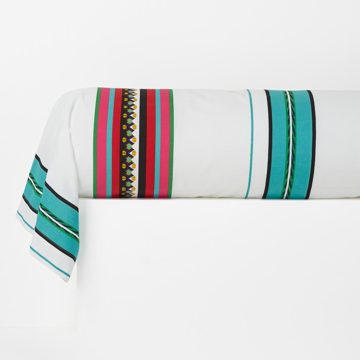 Наволочка на подушку-валик с рисунком, Nazca Blanc