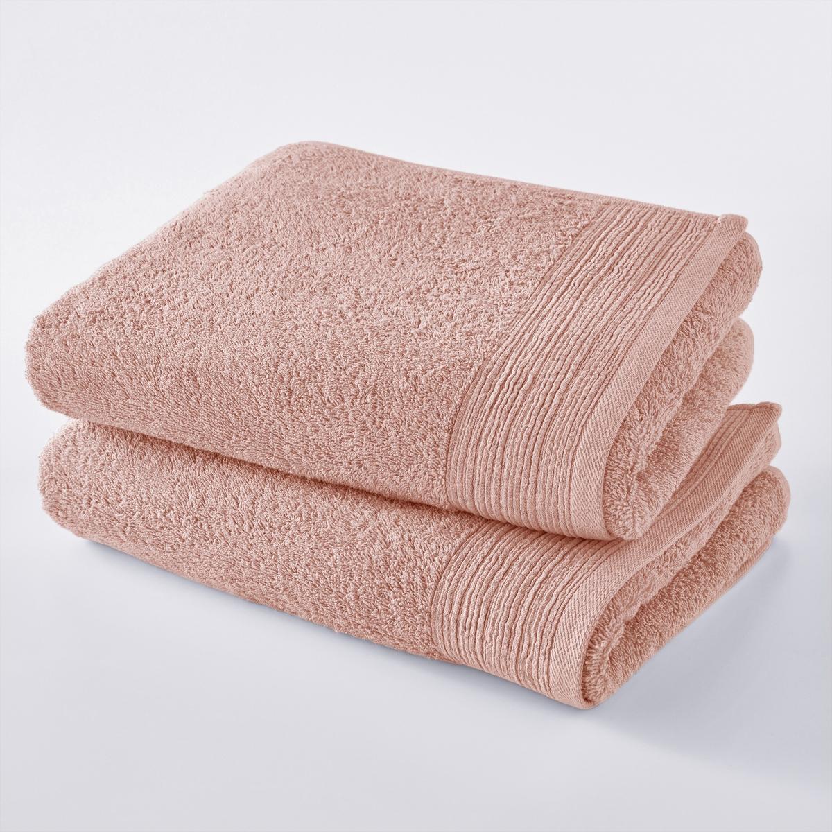 Комплект из 2 махровых банных полотенец из биохлопка ткань для полотенец оптом в москве