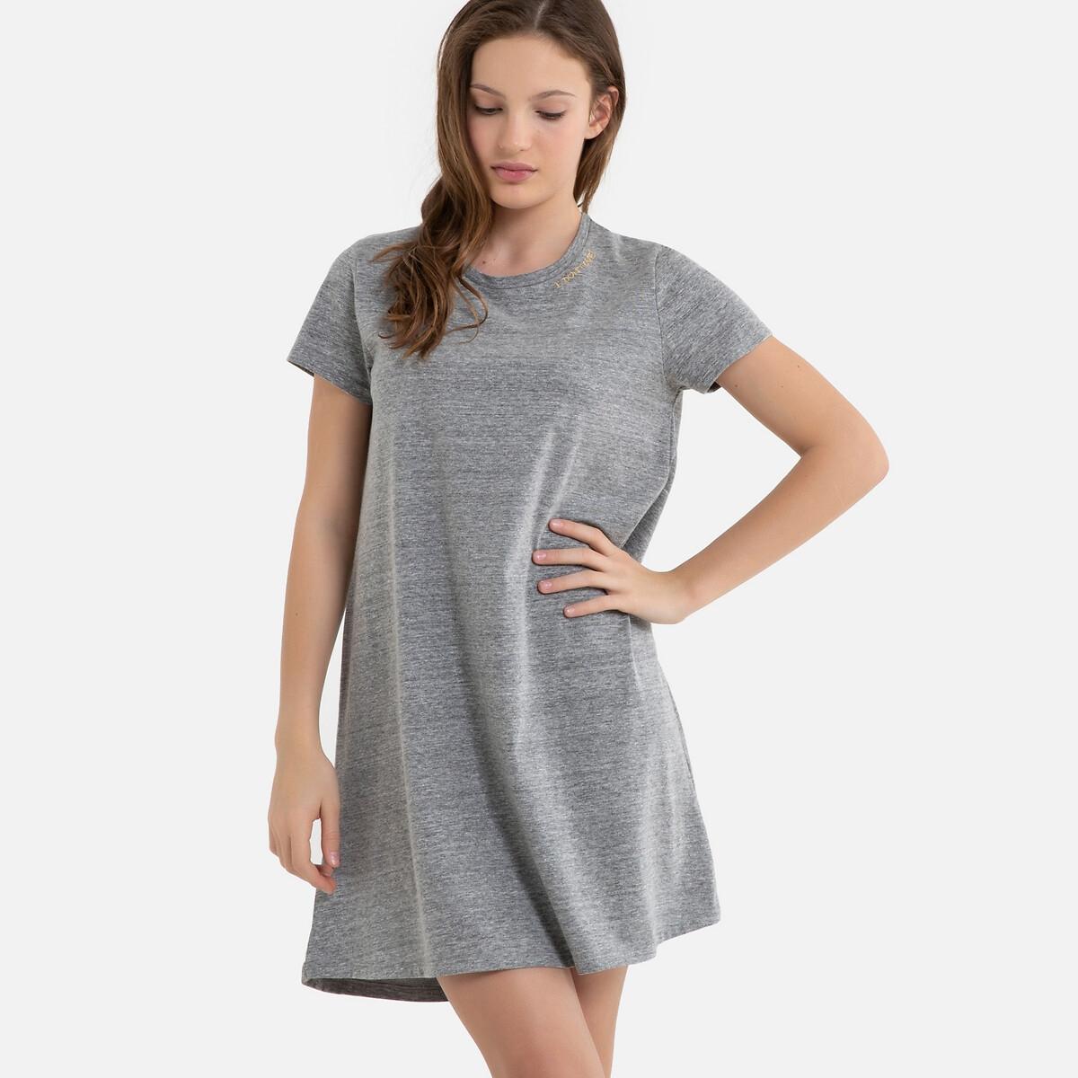 Платье-футболка La Redoute Расклешенное 10 лет - 138 см серый