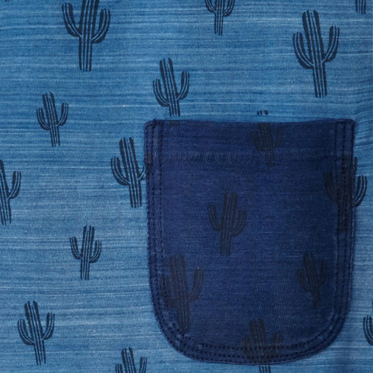 Футболка с рисункомФутболка с рисунком кактус от PETROL INDUSTRIES®- Прямой покрой- Круглый вырез- Сплошной рисунок- 1 нагрудный карман Состав и описание :Основной материал : 100% хлопок Марка : PETROL INDUSTRIES® Уход  :Следуйте рекомендациям, указанным на этикетке изделия.<br><br>Цвет: синий<br>Размер: XXL