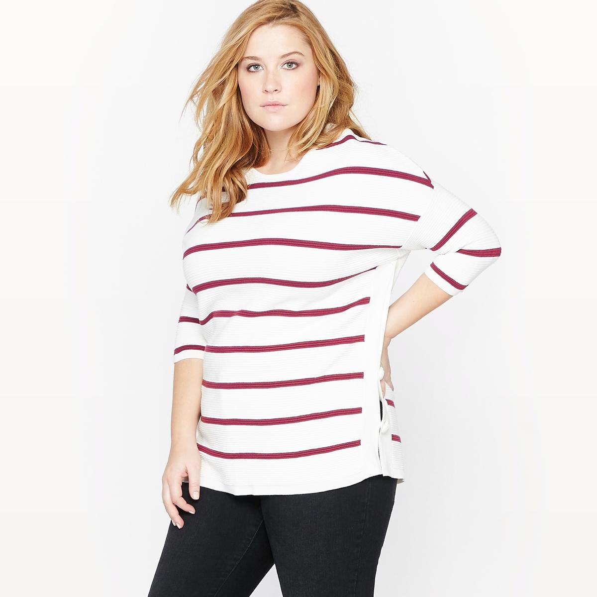 Пуловер в полоску с рукавами 3/4 фуризу парума