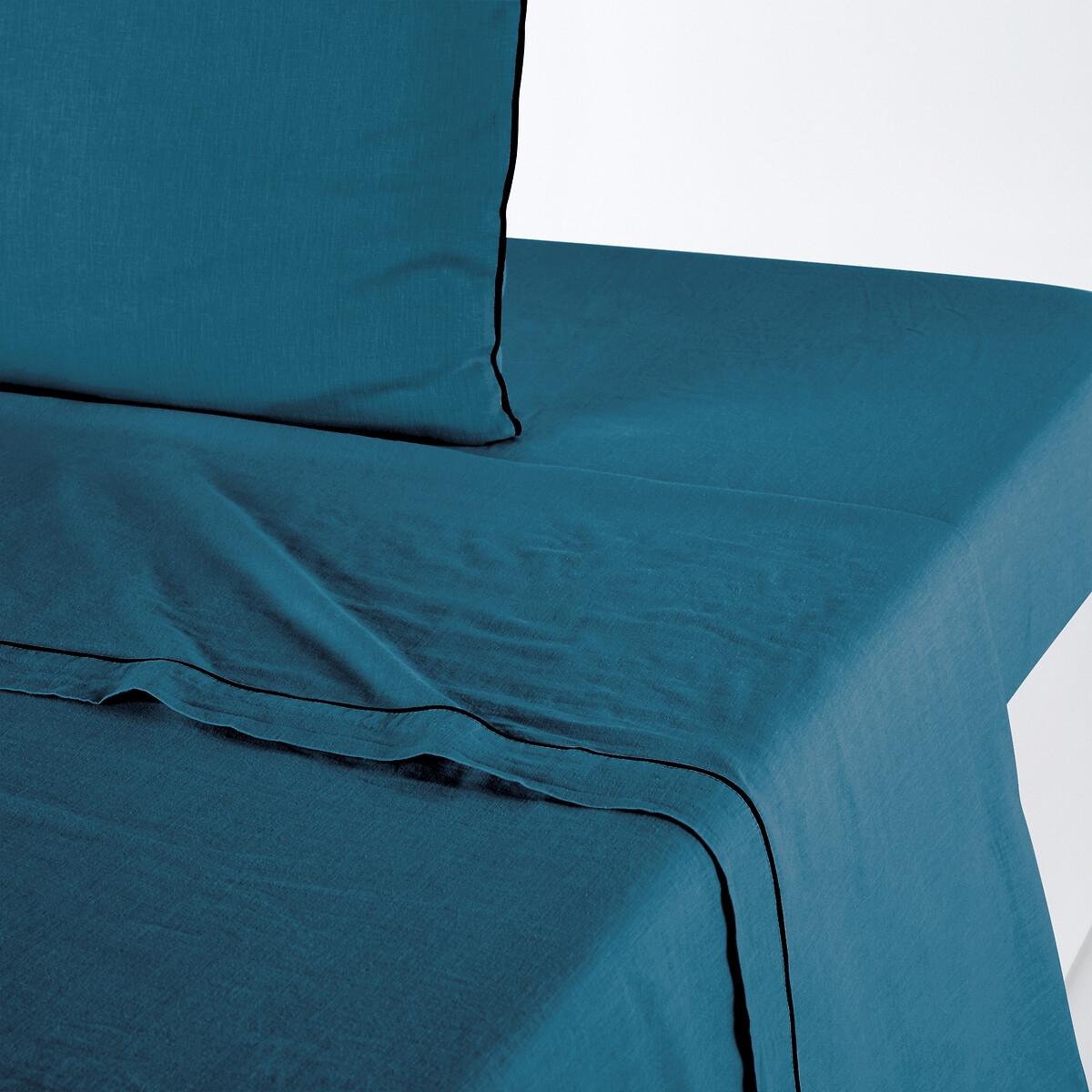 Простыня La Redoute Из льна и хлопка Lior 240 x 290 см синий простыня la redoute из хлопка euzalie 270 x 290 см синий