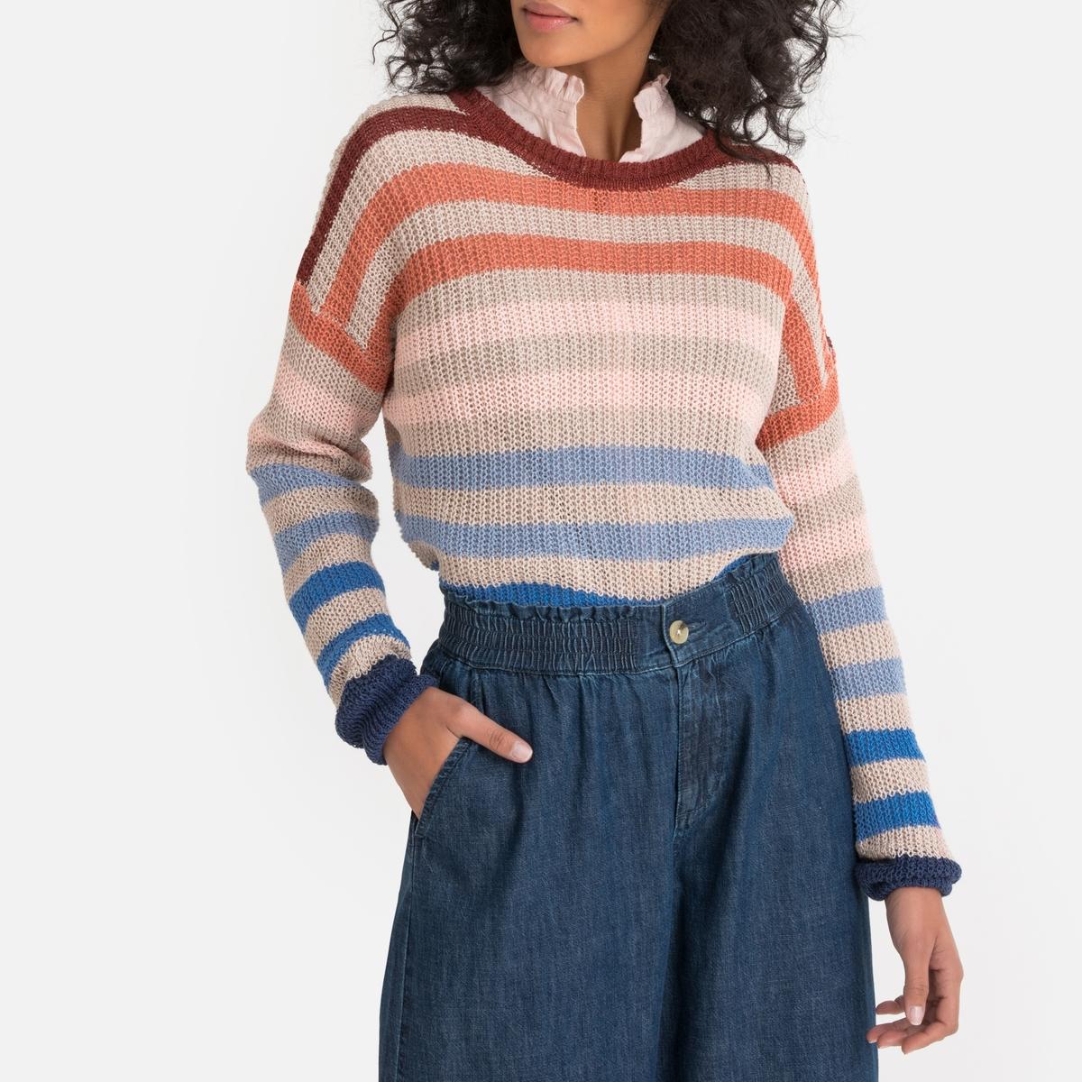 Imagen principal de producto de Jersey de lino mezclado de cuello redondo - Pepe Jeans