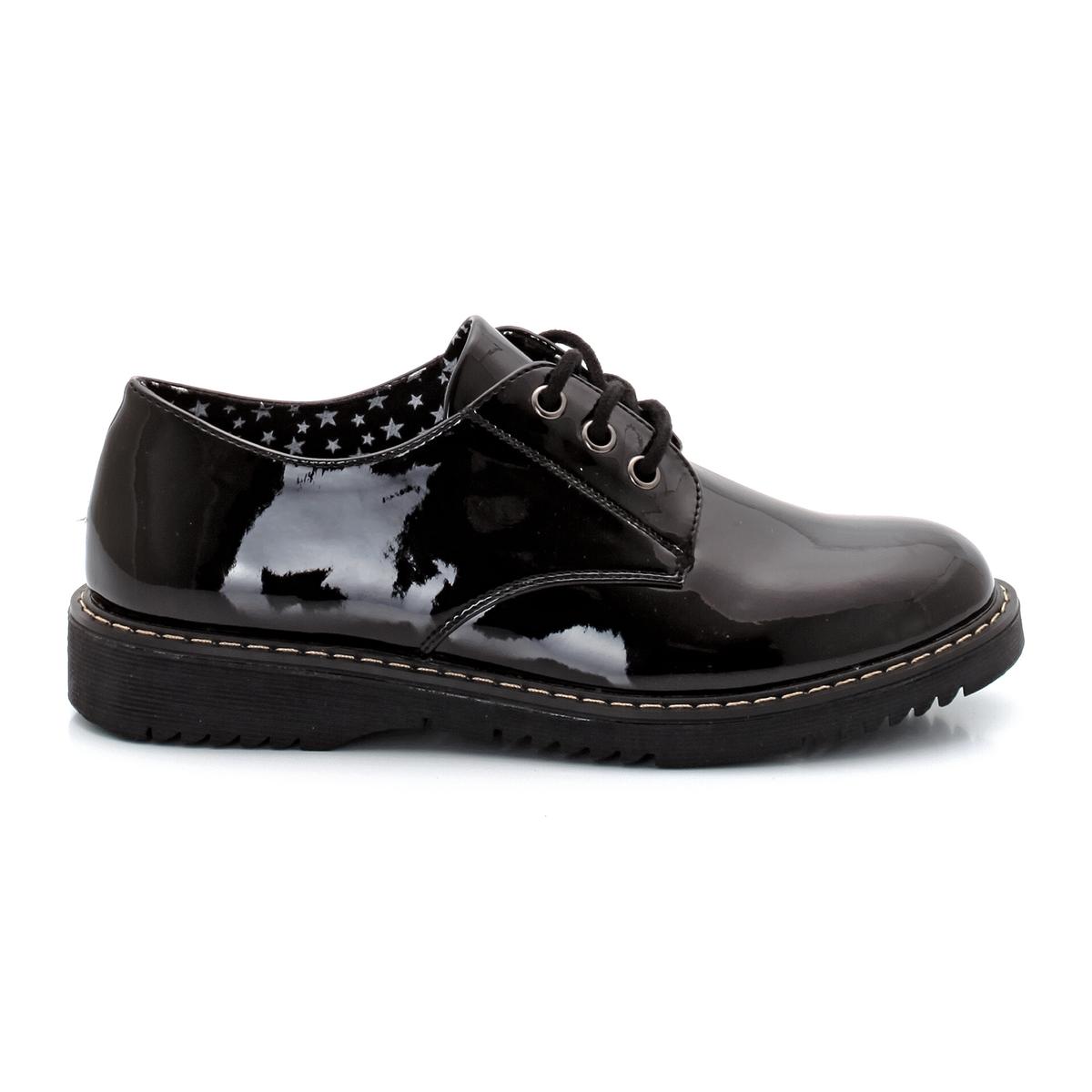 Ботинки-дерби лакированные от La Redoute